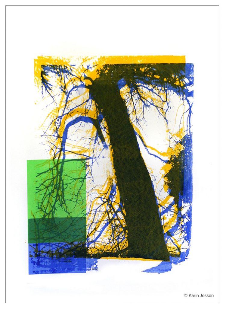 Handsiebdruck - Baum