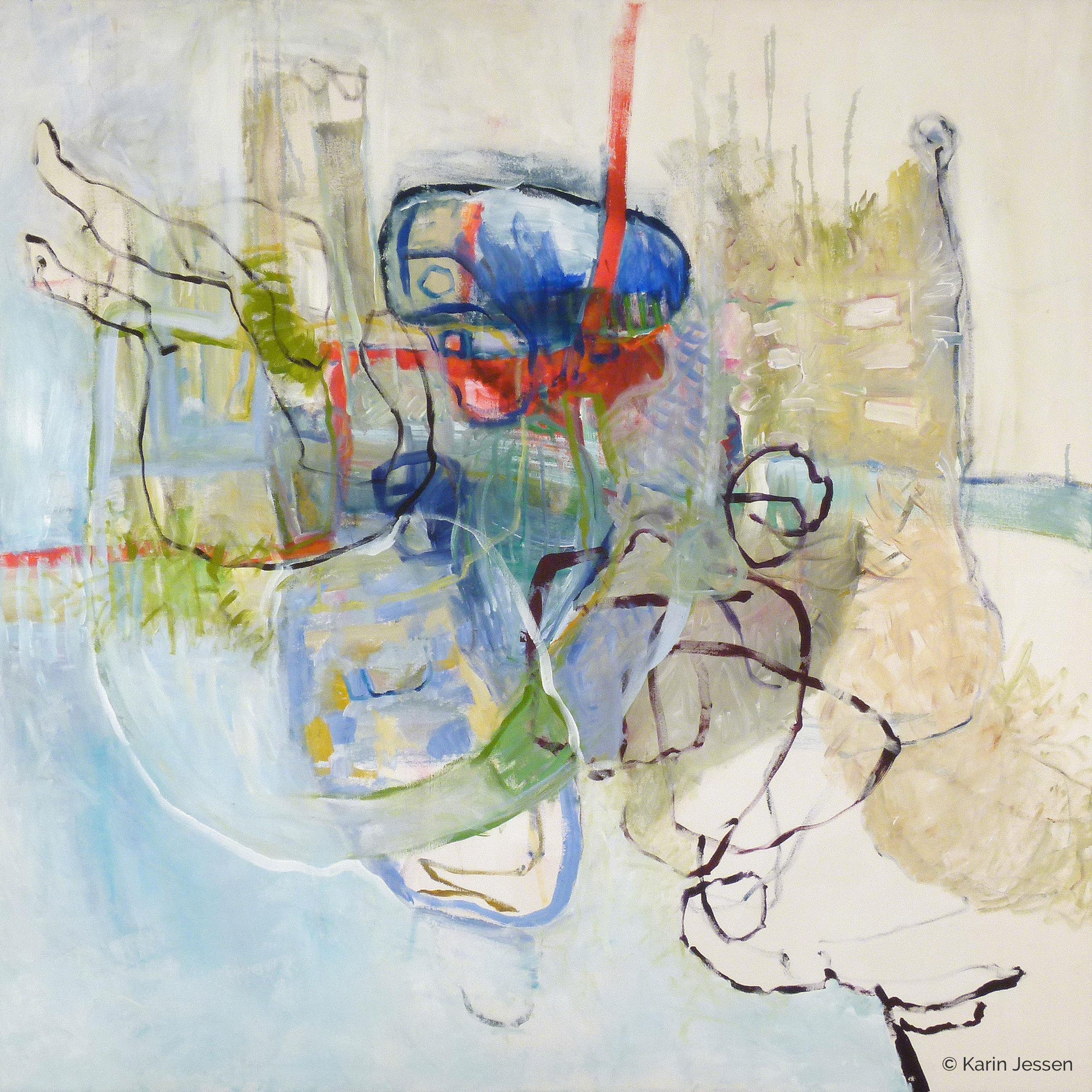 Malerei abstrakt Karin Jessen